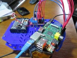 Der aktuelle Stand - Raspberry Pi mit L298N