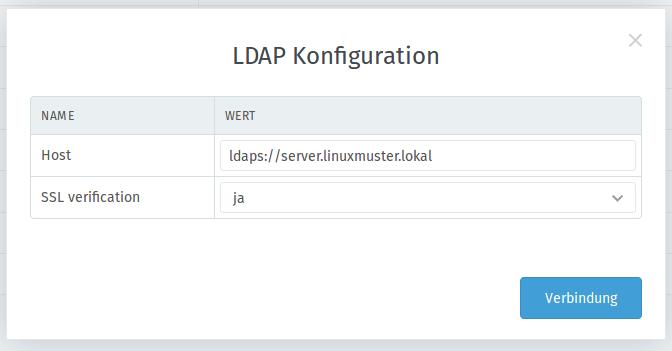 Zammad LDAP Server