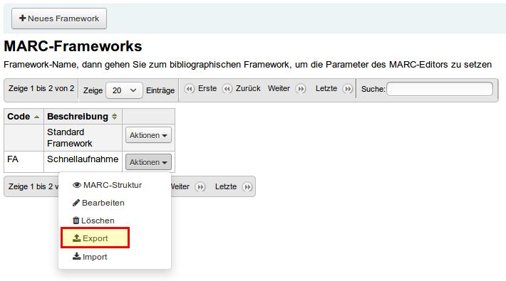 Koha Frameworks