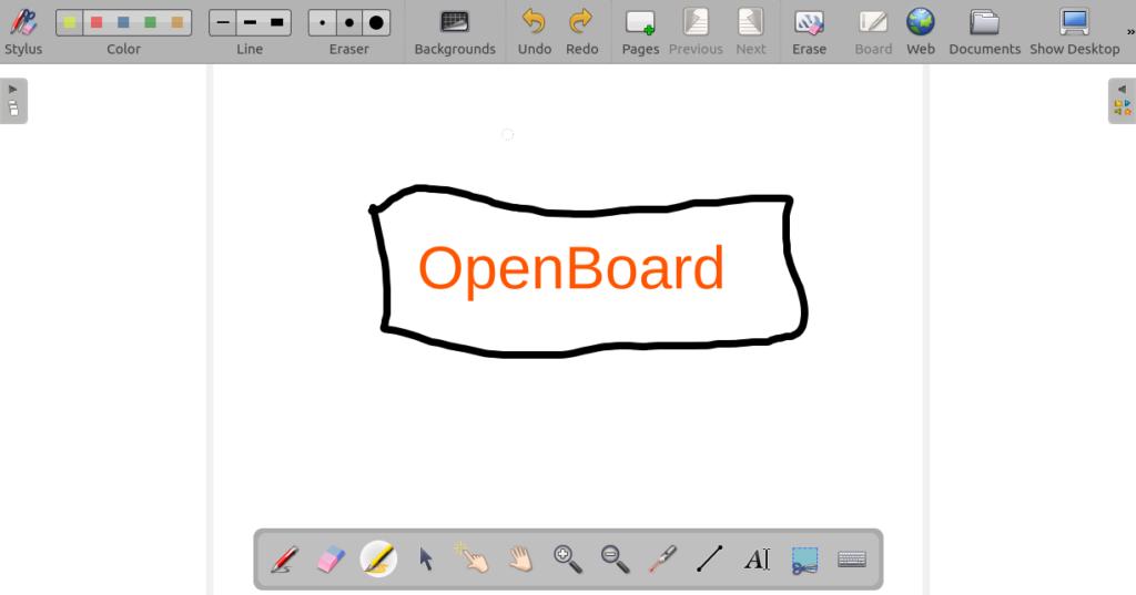 OpenBoard Oberfläche