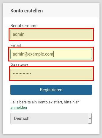 Wekan Registrieren